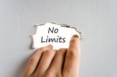 No limits text concept - stock photo