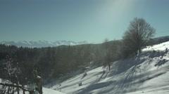 Snowy Mountains Vapor Rising - stock footage