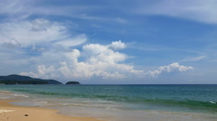 Clouds Time lapse of Karon Beach, Phuket, Thailand - Nature Landscape Timelapse Stock Footage