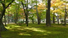 Kasumiga-ike Pond at Kenrokuen Garden in Kanazawa Stock Footage