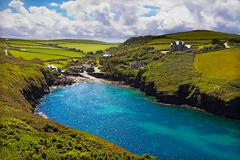 Cove at Port Quin, Cornwall, UK - stock photo