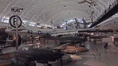Enola Gay nuclear bomber Air and Space museum HD Stock Footage