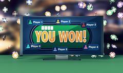 Stock Illustration of poker online