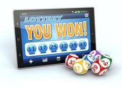 online lottery - stock illustration