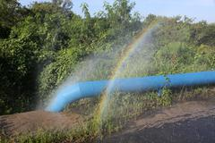 Cuba, Leaking Pipeline - stock photo