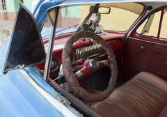Cuba, Interior of an oldtimer Stock Photos