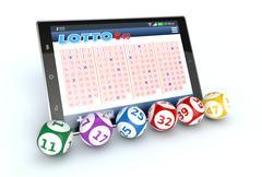 Stock Illustration of online lottery
