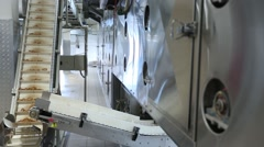 Conveyor at the bakery Stock Footage