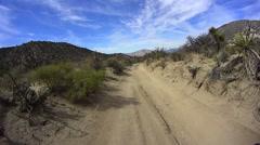 Borrego Desert California Pinyon Mountain Road. Stock Footage
