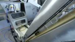 Production equipment for bakery Stock Footage