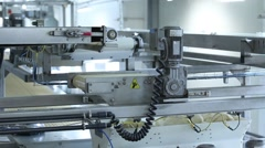 Mechanized production of bakery products Stock Footage
