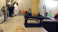 Working dough for pasta with device Stock Footage