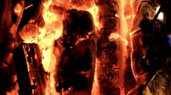 Red hot burning coals background Stock Footage