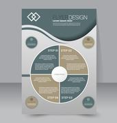 Flyer template. Business brochure. Editable A4 poster for design, education Stock Illustration