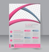 Flyer template. Business brochure. Editable A4 poster for design, education Stock Illustration