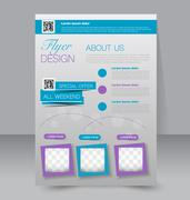 Flyer template. Business brochure. Editable A4 poster for design, education, Stock Illustration