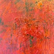 Art abstract painted background in red color - stock illustration