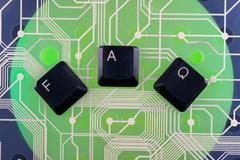 Keyboard keys laid out the word  FAQ - stock photo