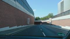 Road tunnel near Frankfurt Airport Stock Footage