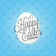 Happy easter everyone lettering - stock illustration