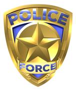 Police Force Gold Badge Stock Illustration