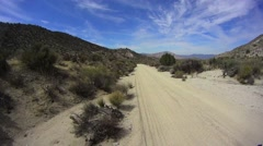 Anza Borrego Desert California Pinyon Mountain Road. Stock Footage