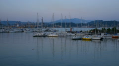 Group of sailing ships in the La Spezia harbor Stock Footage