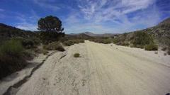 Borrego Desert California Pinyon Mountain Road. - stock footage