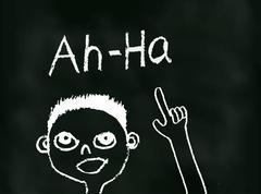 Ah Ha Moment (Vector) - stock illustration