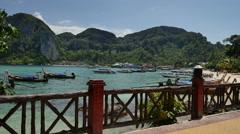 Phi Phi island bay in Phi Phi Stock Footage