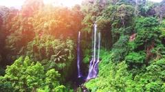 Sekumpul Waterfalls in Bali, Indonesia Stock Footage