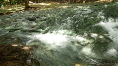 Panning video of tropical river stream Stock Footage