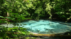 Panning left video of Emerald pool in Thailand - stock footage