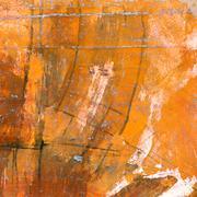 orange watercolor painted canvas - stock illustration