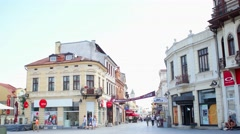 BITOLA, MACEDONIA - JULY, 2015: Enterance of Bitola's main street. Stock Footage