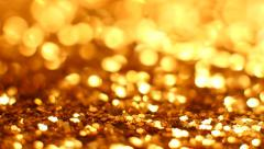 Stock Video Footage of Abstract gold background with copy space