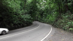 Jamaica Ocho Rios Fern Gully road traffic HD 028 Stock Footage