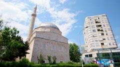 BITOLA, MACEDONIA - JULY, 2015: Mosque at city center of Bitola. Stock Footage
