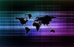 International Communication - stock illustration