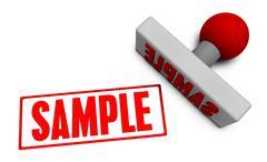 Sample Stamp - stock illustration