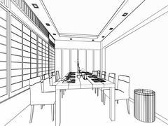 Dining 2 Stock Illustration