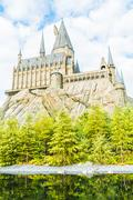 OSAKA, JAPAN - December 1, 2015 : Hogwarts School of Witchcraft Castle and Wi Kuvituskuvat