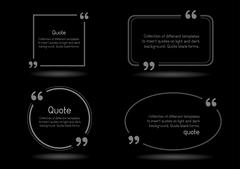 quote shadow black background - stock illustration