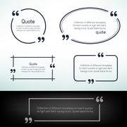 simple quote template - stock illustration