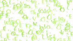 Animated green words Love abstract background Stock Footage