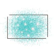 Frame for text and turquoise sand - stock illustration