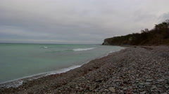 4K Time Lapse, Eroded limestone coastline on the island of Gotland in Sweden  Stock Footage