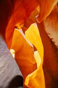 Lower Antelope Canyon view near Page, Arizona Stock Photos
