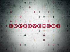 Finance concept: Improvement on Digital Paper background - stock illustration