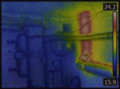 Central Heating System Infrared - stock photo